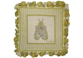 Garden Bug Needlepoint Pillow