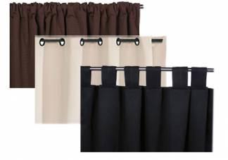 Combination Drapes, top tab drapes, rod pocket drapes, grommet drapes