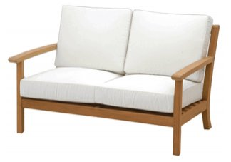 deep seating teak loveseat, teak loveseats, deep seating, atlantic teak loveseat, deep seat teak sof