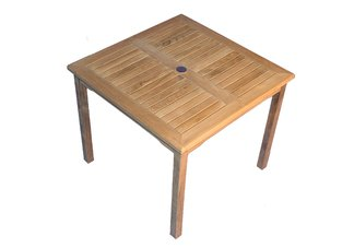 "Solid Teak 36"" Square Bistro Table"