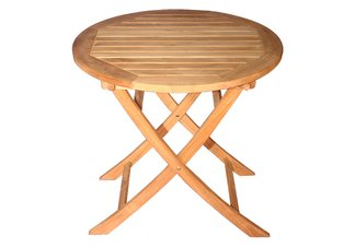 "Teak Balcony Table 30"" Dia, 30""H"