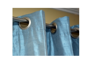 Custom Silk Grommet Drapes