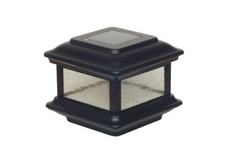 4 X 4 COLONIAL SOLAR POST CAP - BLACK