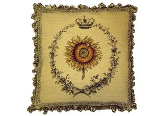 Sunflower Needlepoint Pillow