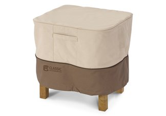 outdoor ottoman cover, outdoor side table cover, patio ottoman cover, patio furniture cover