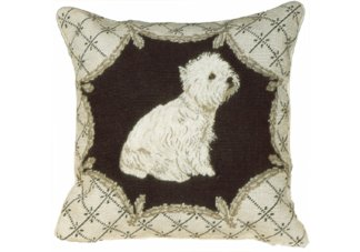 West Highland Dog Needlepoint Pillow