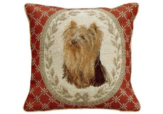 Yorkshire Terrier Needlepoint Pillow