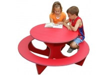 Round Red Activity Table