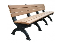 Silhouette 8' Backed Bench