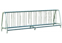 Commercial Park 10' Double Sided Bike Rack- Portable, Galvanized