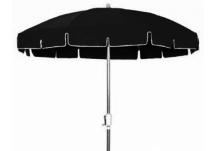 Aluminum Patio Umbrella   Outdura Black Awning