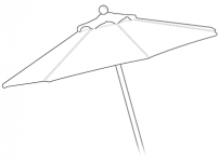 Custom Market Umbrellas