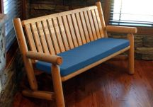 Sunbrella Blue Bench Cushion