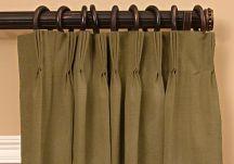 Custom French Pleat Drapes