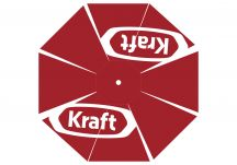 Kraft red logo umbrella proof