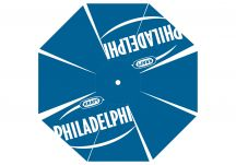 Kraft Philadelphia logo umbrella proof