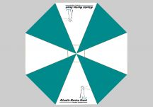 Atlantic Marina Resort Logo Umbrella Proof