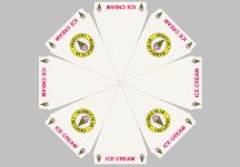 Marble Slab logo umbrella proof
