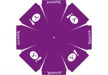 Yahoo logo umbrella proof