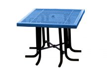 Square Expanded Metal Canteen Table