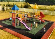 Playground accommodates up to 45 grade school children
