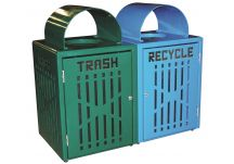 32 Gallon Diamond Trash/Recycling Bins with Doors