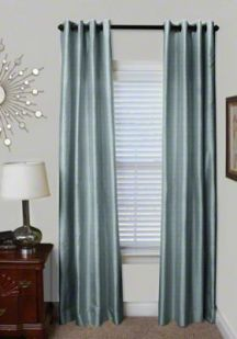 Custom Grommet Silk Drapes