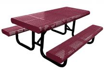 picnic table, picnic tables, perforated picnic table, radial edge table