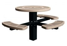 Perforated Round Post Table ADA