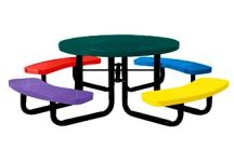 46 Round Perforated Childs Picnic Table