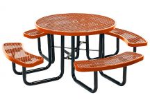 Expanded Metal Round Picnic Table
