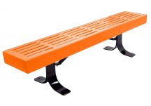 bench, park bench, commercial park bench, 6 ft park bench, park bench with back, slatted bench, back