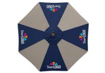 commercial logo umbrellas