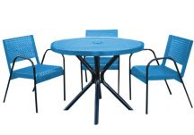 4-Piece Expanded Metal Canteen Patio Set