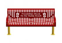Bloom Classic Wingline Buddy Bench with Surface Mount