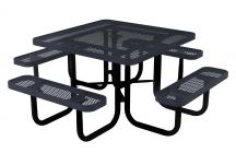 46-inch Square Expanded Metal Portable Table
