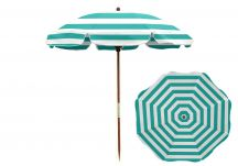 Turquoise Stripe Beach Umbrella