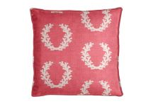 Al Fresco Coral Wreath Berry Pillow