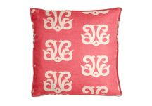 Al Fresco Dolphin Crest Berry Pillow