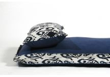 Amalfi Throw Bed - Tempotest Ikat Navy and Sunbrella Echo Midnight