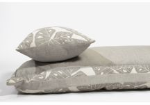 Amalfi Throw Bed - Sunbrella Shift Radiant Silver and Sunbrella Cast Silver
