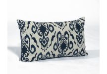 PARA` Tempotest Ikat Navy and Sunbrella Echo Midnight Amalfi Throw Pillow