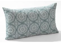 Robert Allen Suzani Strie Rain and Linen Slub Rain Pillow