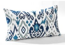 Highland Taylor Ikat Navy and Sea Dew Navy Pillow