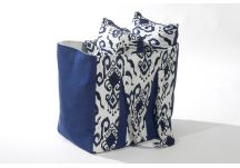PARA Tempotest Club and Sunbrella Echo Midnight Ikat Navy Bag