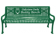 Custom School Name and Mascot Buddy Bench