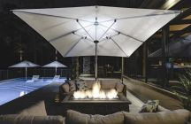 Eclipse 10' Square Cantilever Umbrella