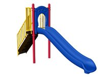 Commercial Playground 4' Freestanding Slide- Ground Spike, Primary Colors