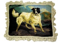 German Dog Needlepoint Pillow