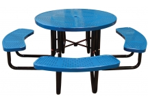 Commercial picnic tables picnictableoutlet perforated metal picnic tables watchthetrailerfo